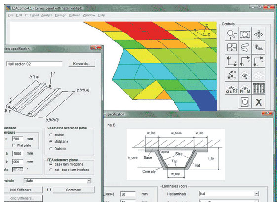 ESAComp was used in the project to determine the optimal lamination sequence, from a material manufacturability point of view