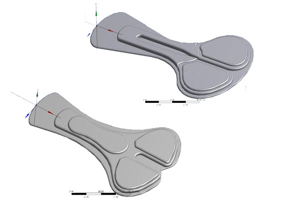 CAD models of the Campagnolo Tri-ProPad Men Tech and Pro Women