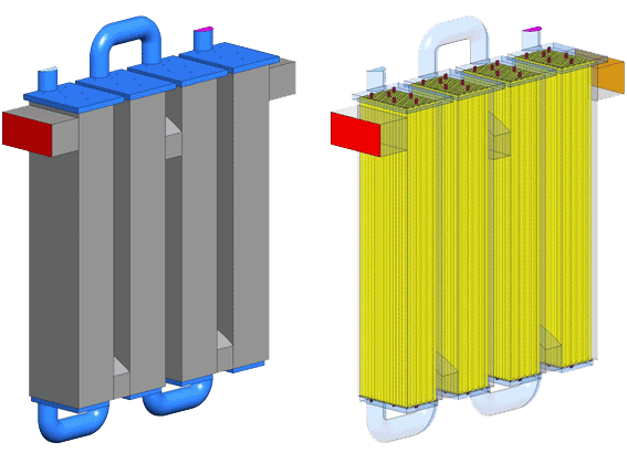 The heat exchanger initial geometry