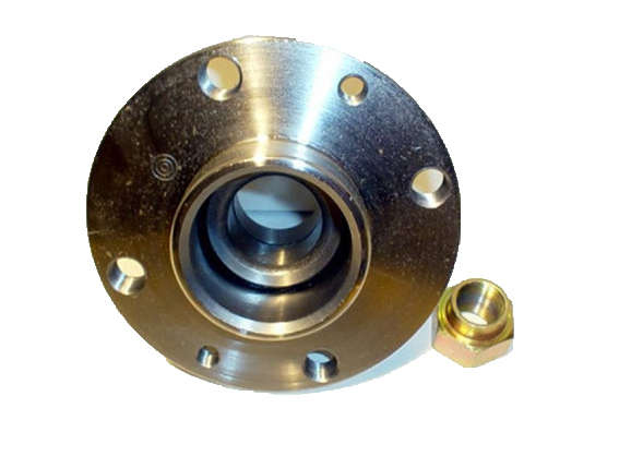 A steel wheel hub, similar to the one that was the object of this study