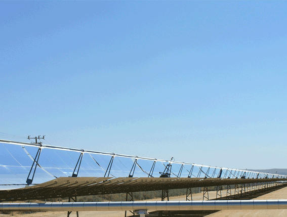 A large molten salts storage system for solar energy