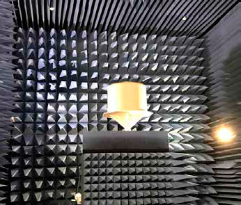 <h5>Radome in Elettronica SpA's anechoic chamber</h5>